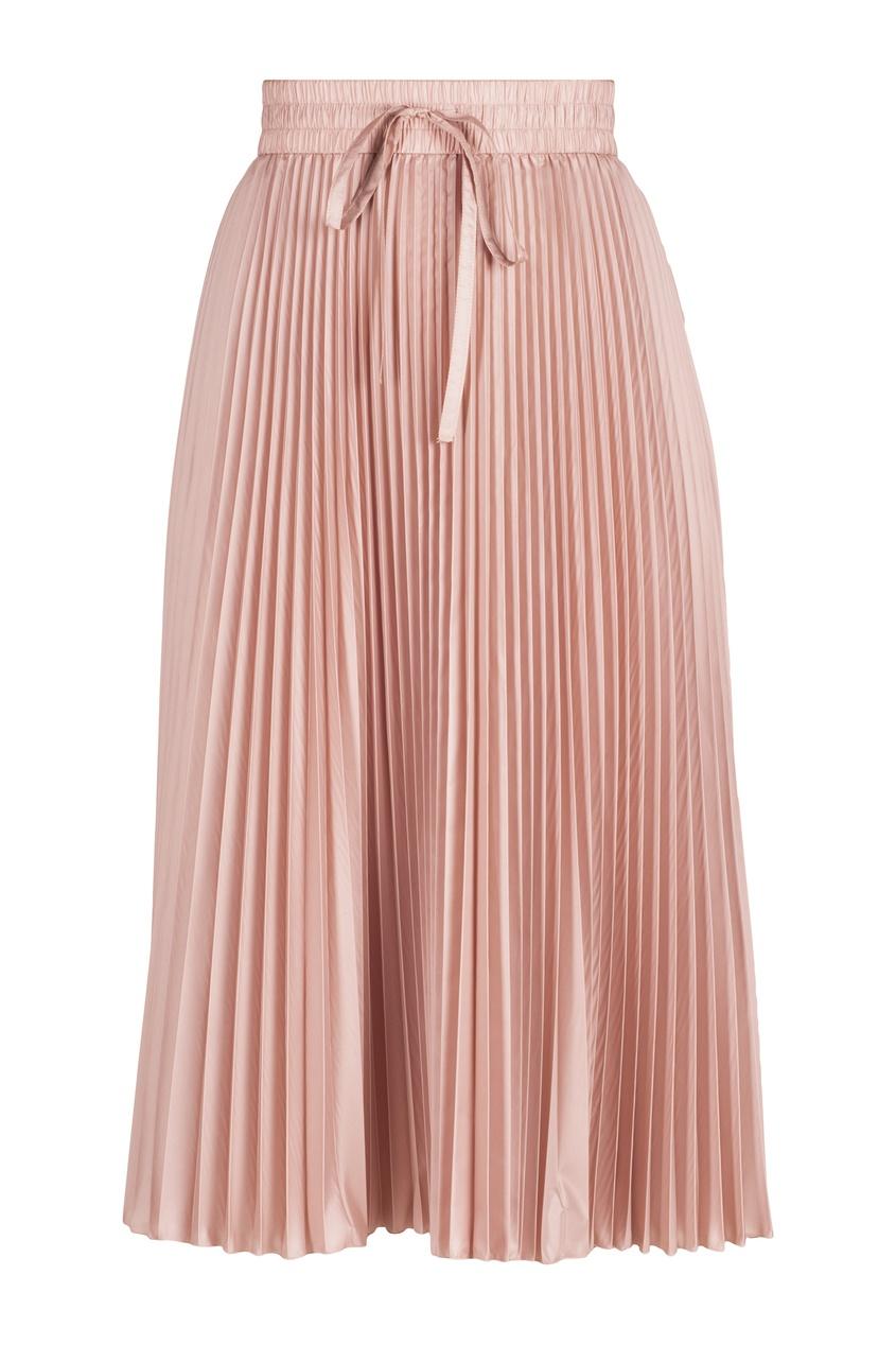 Розовая плиссированная юбка Red Valentino