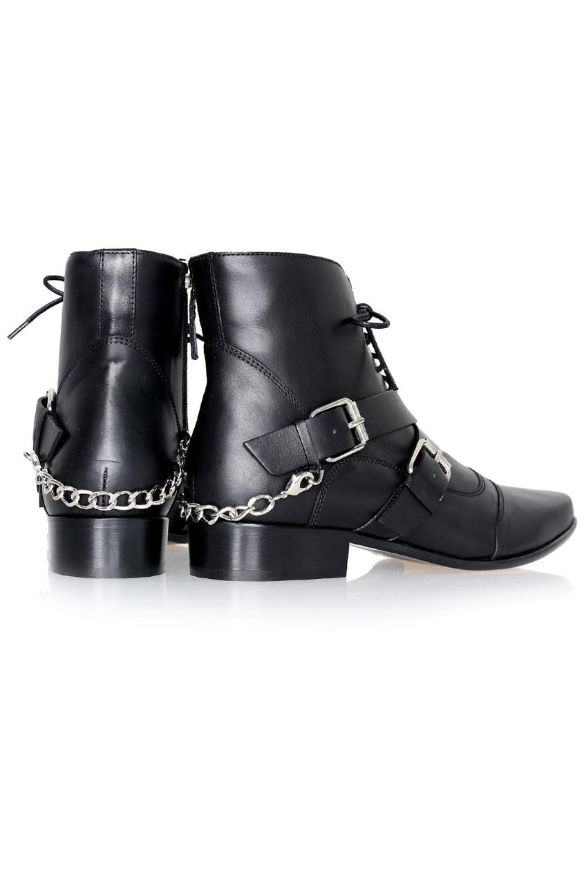 Tabitha Simmons Кожаные ботинки Bryon baldinini черные кожаные ботинки с