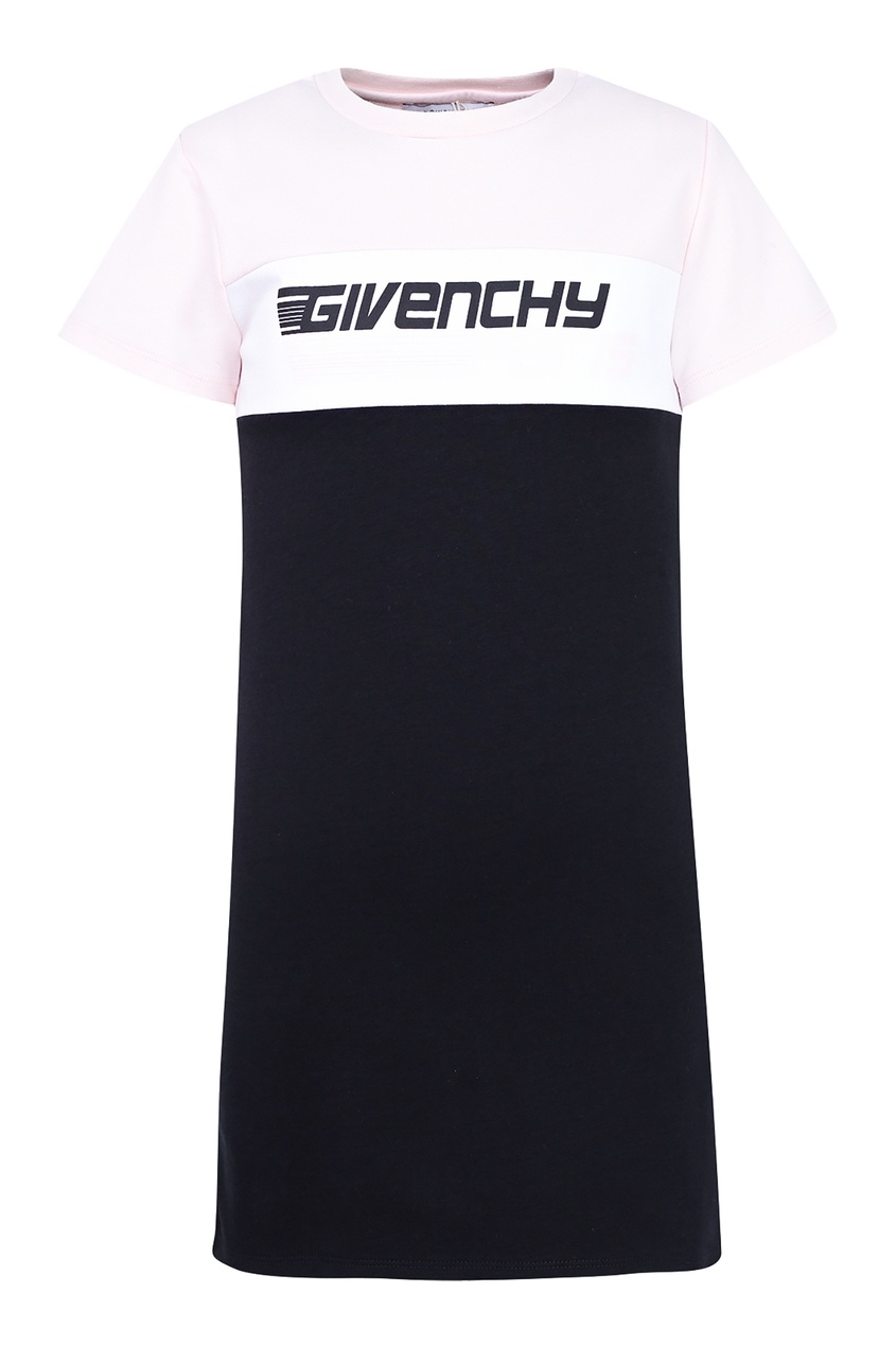 Купить Черно-белое платье черного цвета