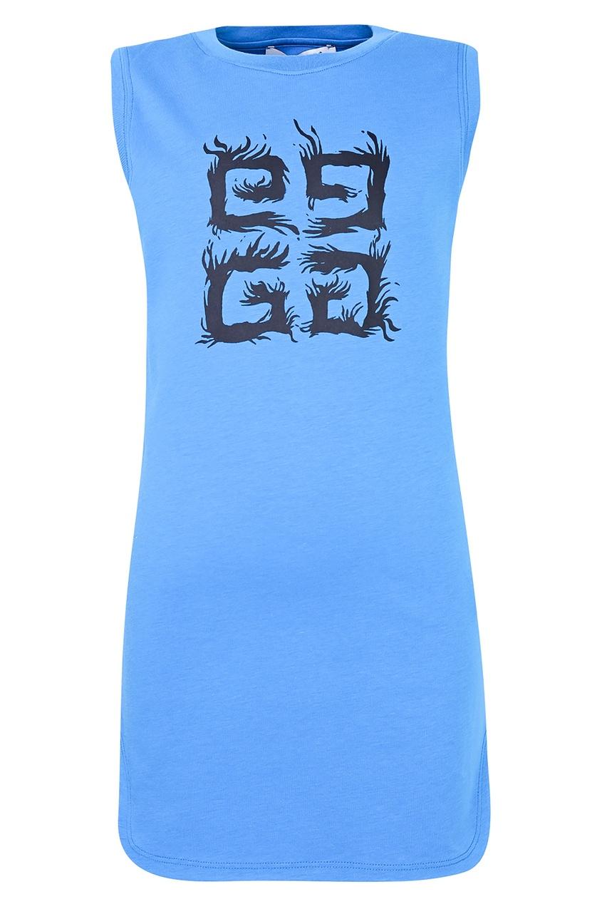 Синее платье без рукавов от Givenchy