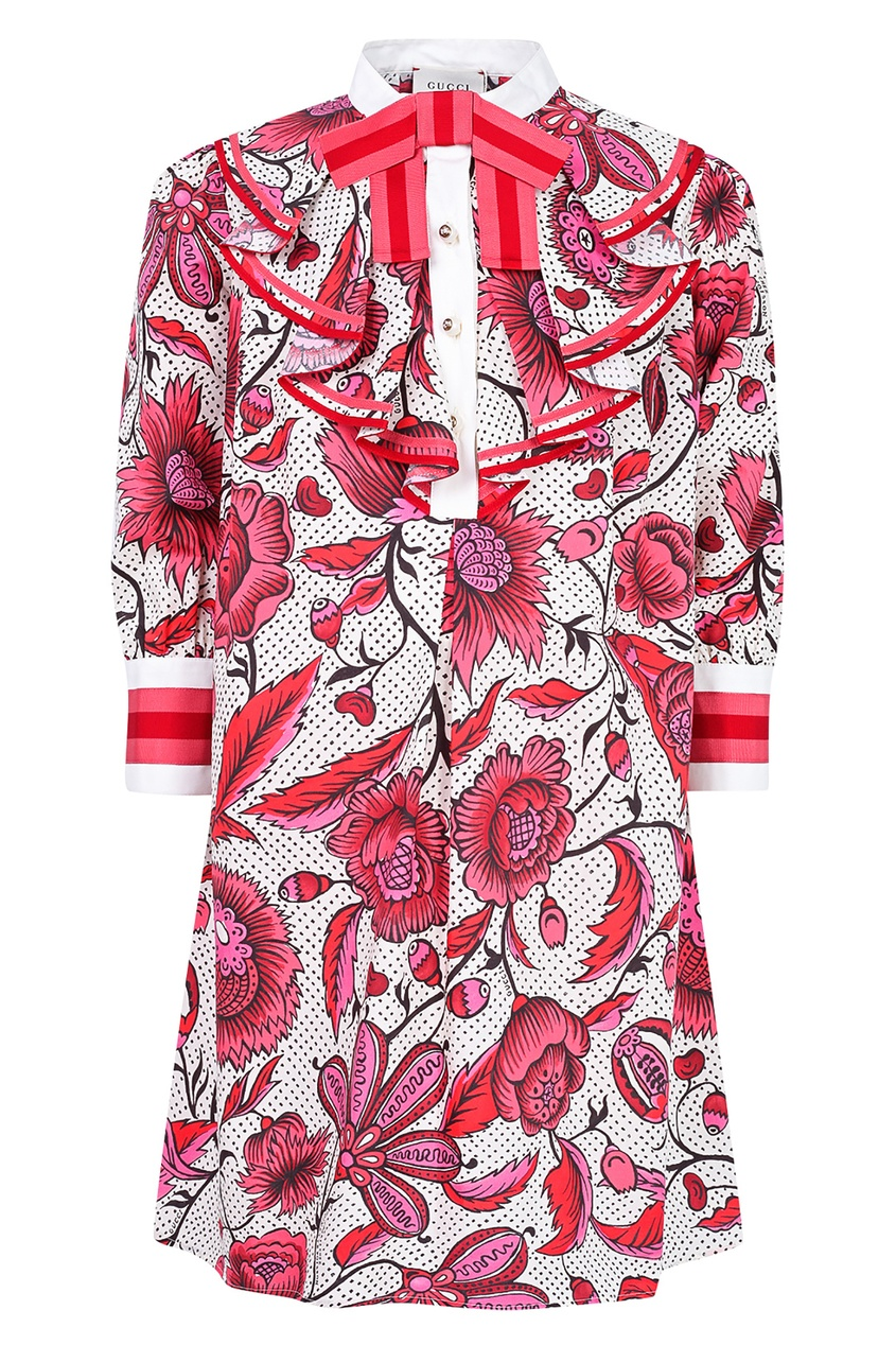 Купить Розовое платье с пуговицами от Gucci Kids цвет multicolor