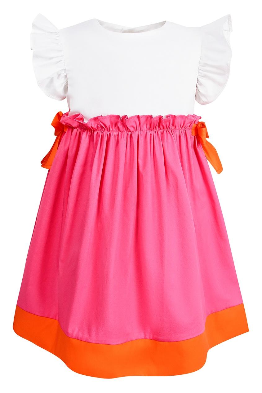 Купить Платье с ярко-розовой юбкой розового цвета