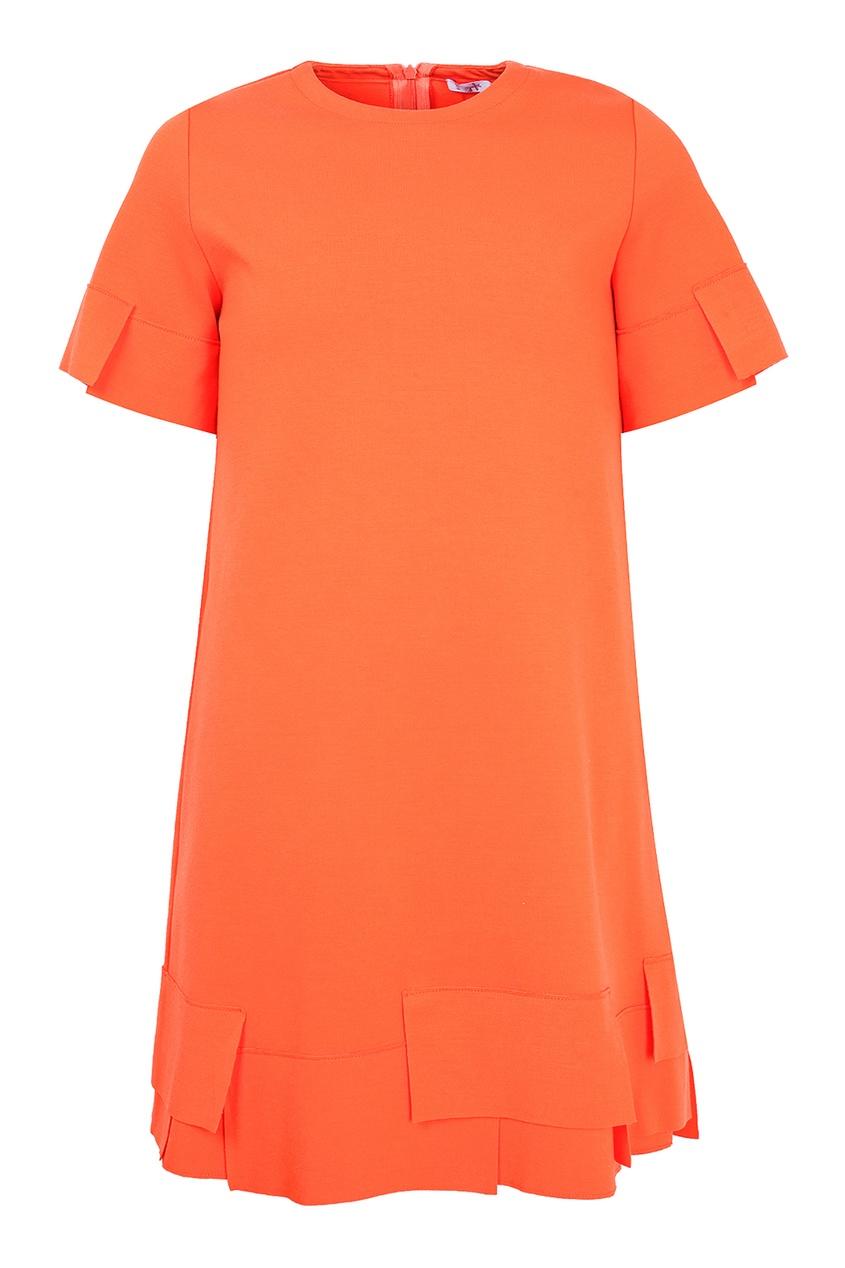 платье il gufo, оранжевое