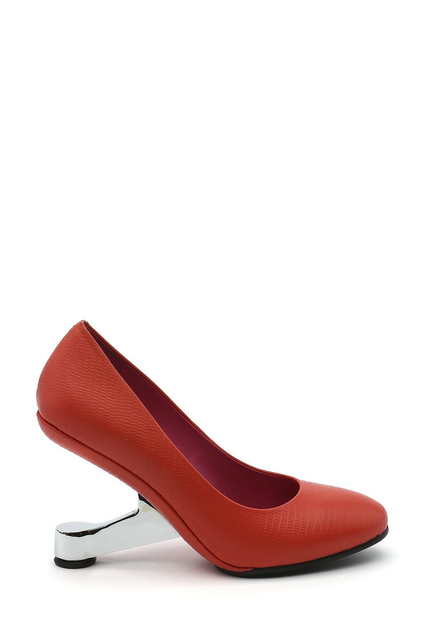 Оранжевые кожаные туфли Eamz Pumps United Nude