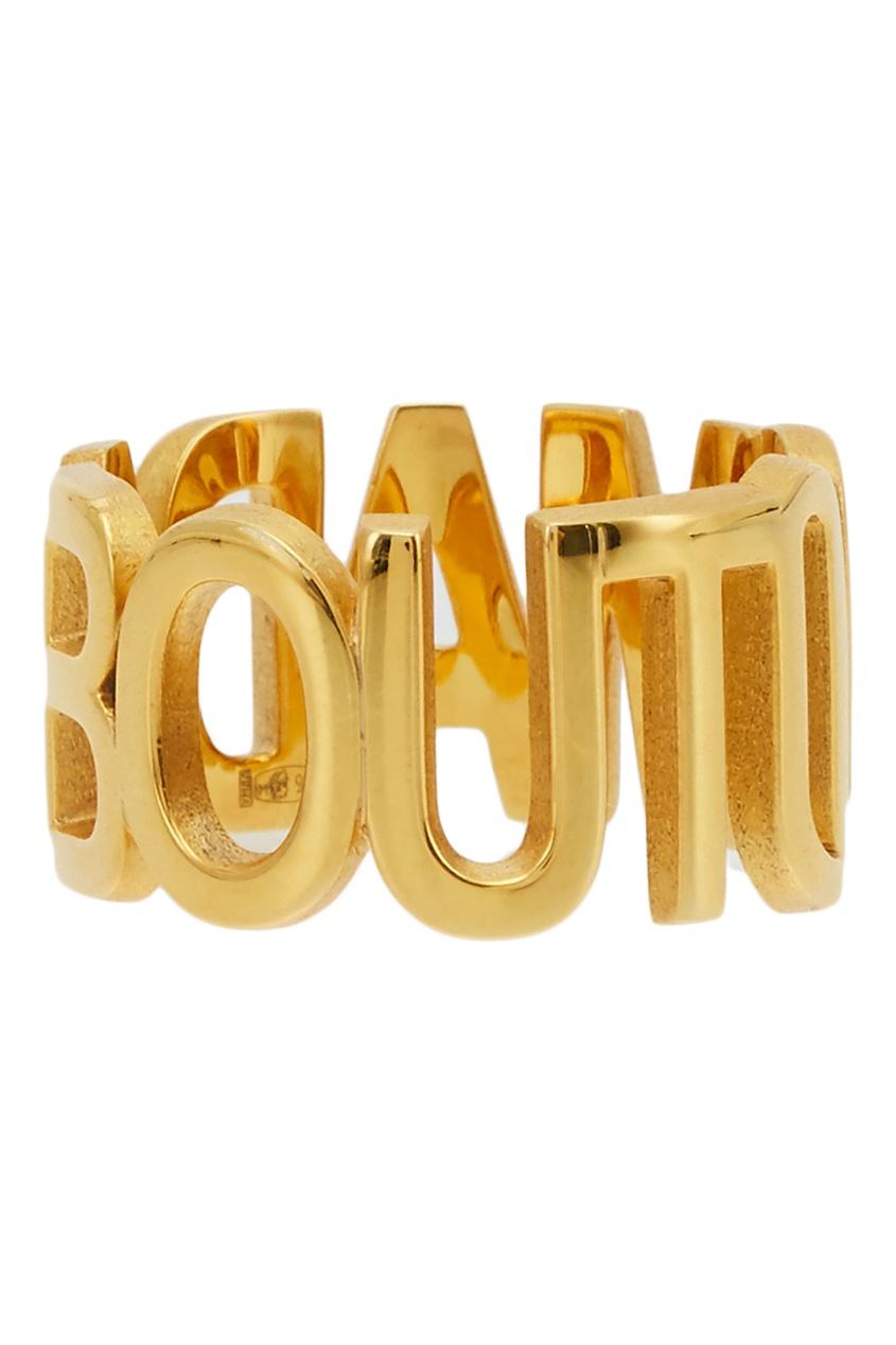 Фото 2 - Золотистое кольцо Mad About U золотого цвета