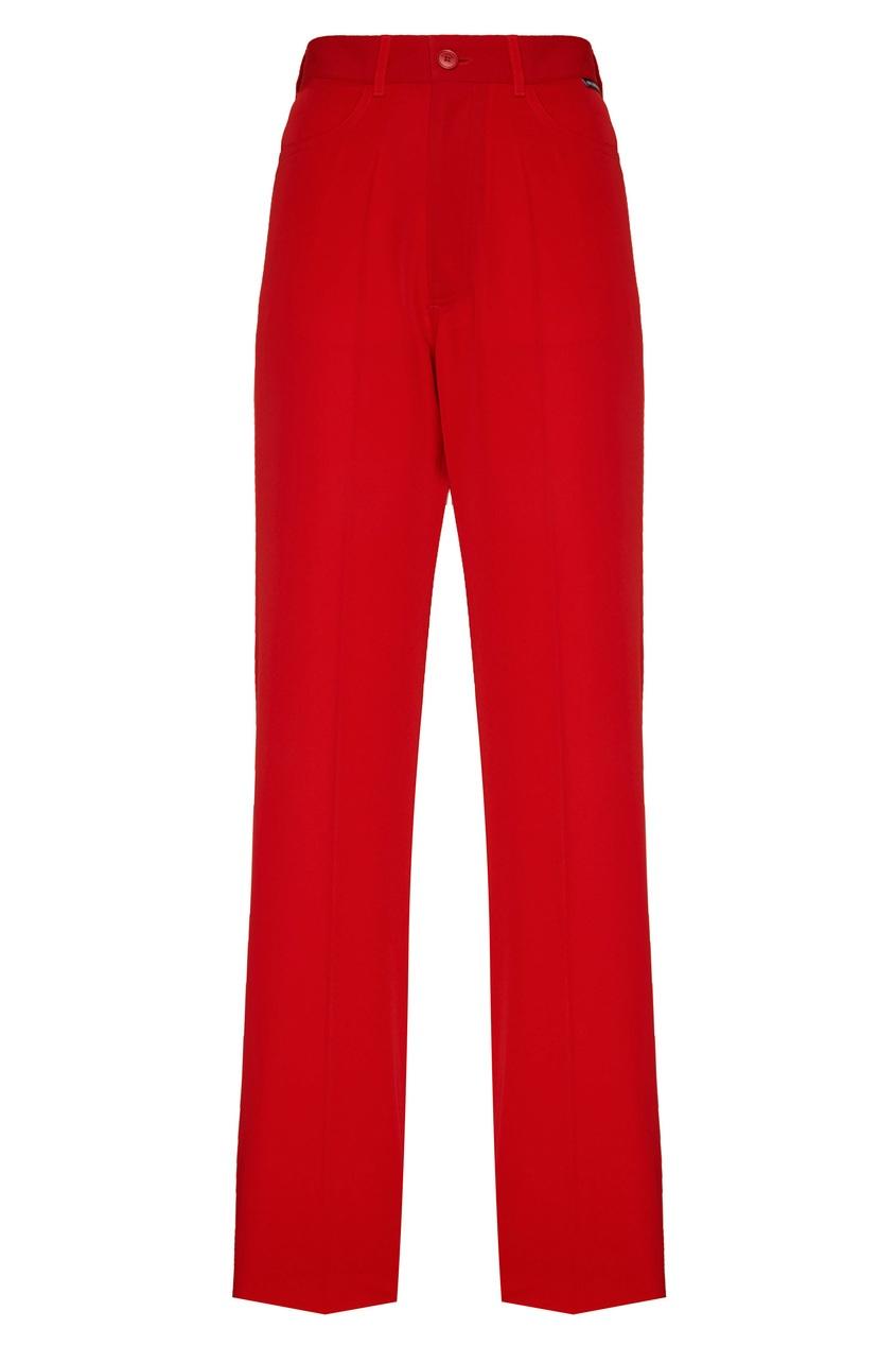 Красные брюки клеш Balenciaga