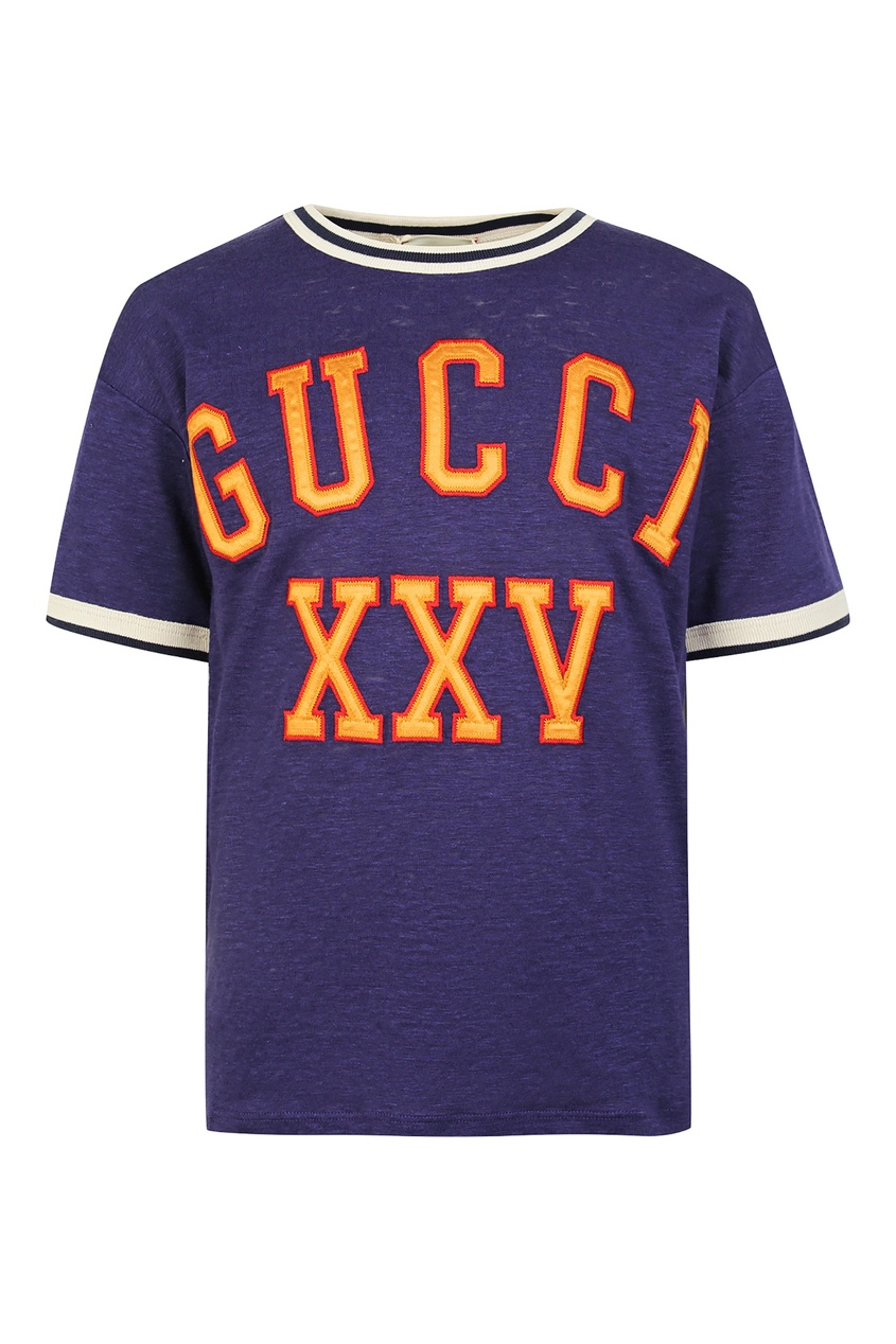 Купить Фиолетовая футболка Gucci от Gucci Kids синего цвета