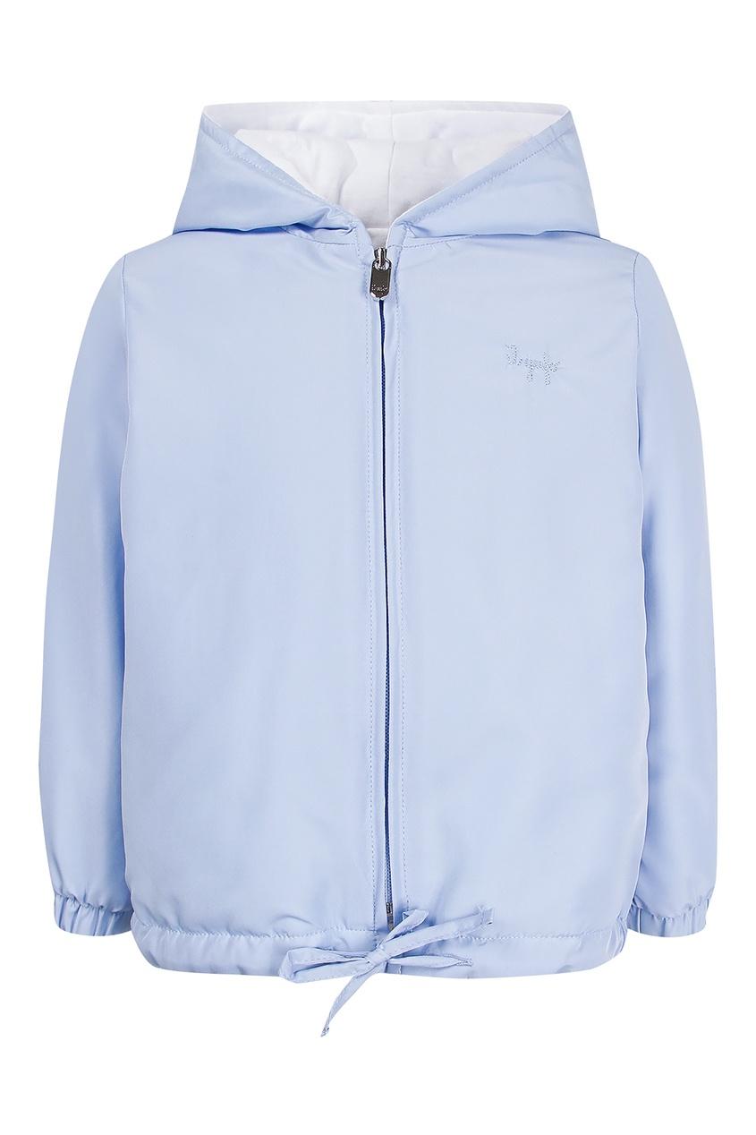 Купить Куртку на молнии голубого цвета