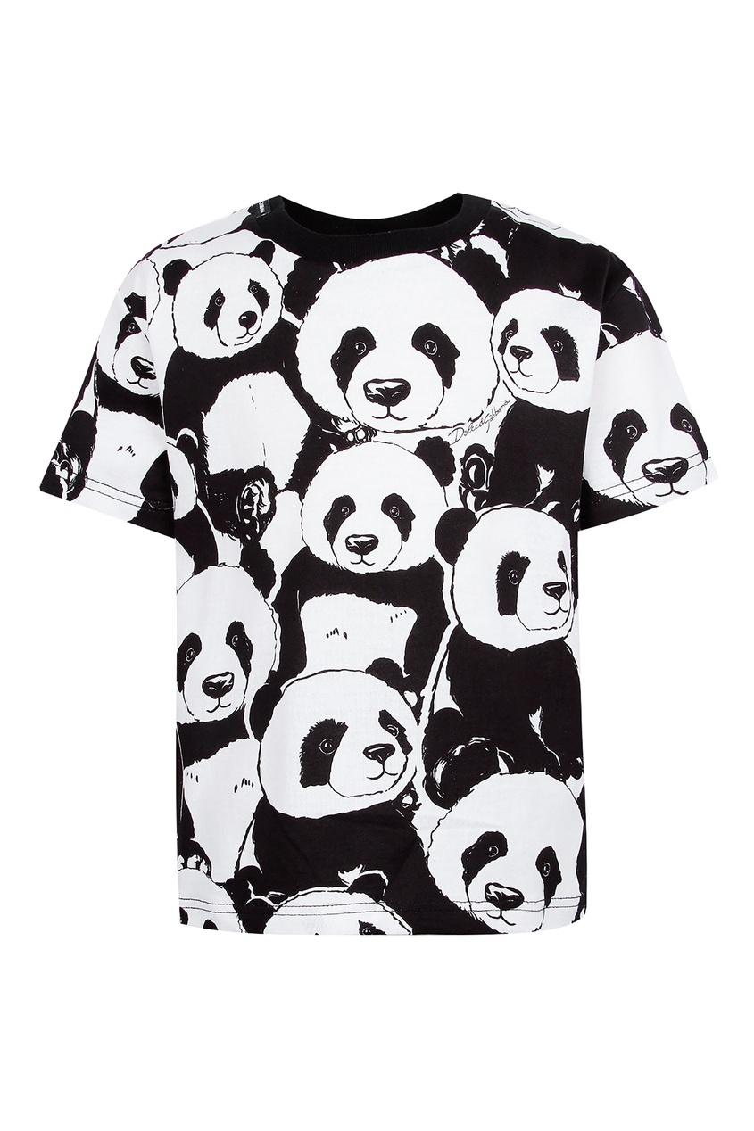 Купить Футболку с пандами цвет multicolor