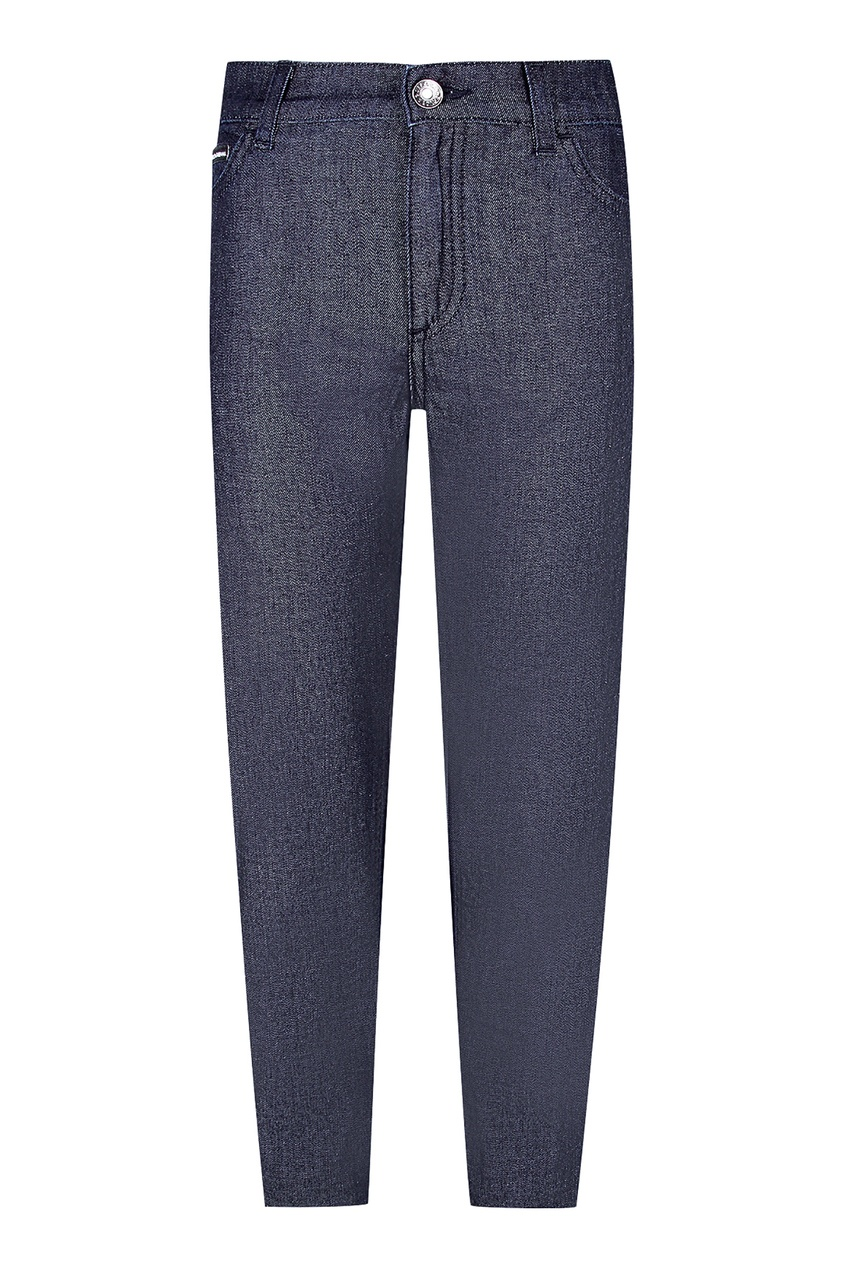 Купить Темно-синие джинсы синего цвета