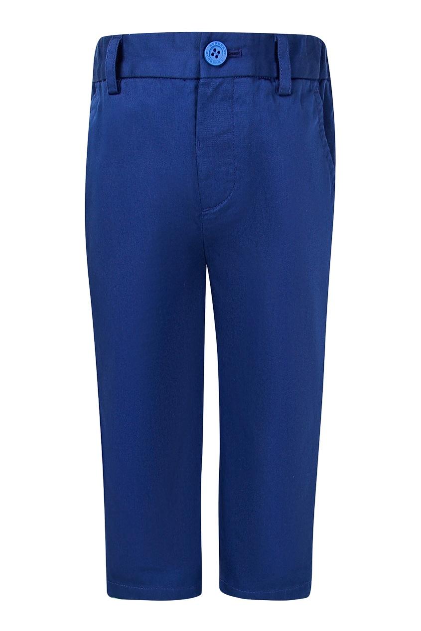 Купить Насыщенно-синие брюки от Burberry Kids синего цвета