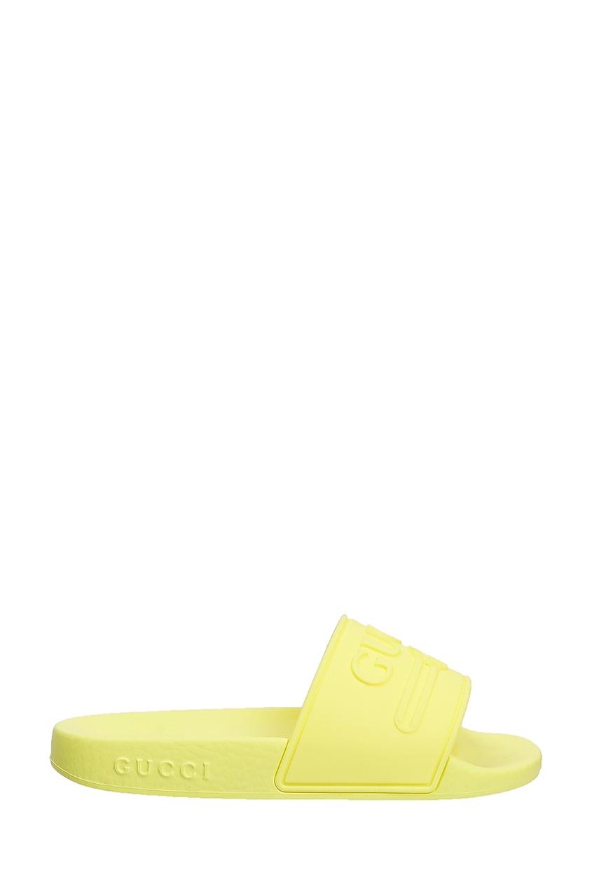 Желтые шлепанцы от Gucci