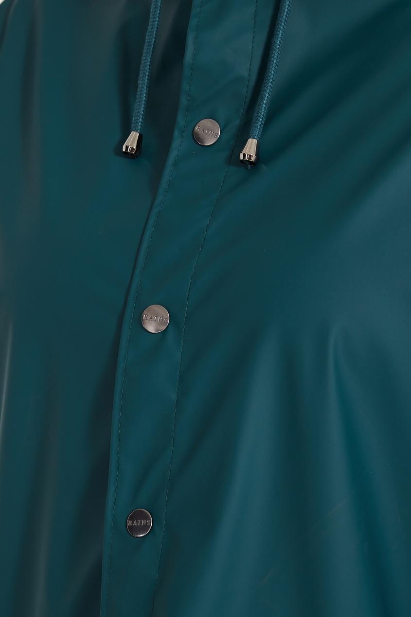 Фото 7 - Зеленый плащ зеленого цвета