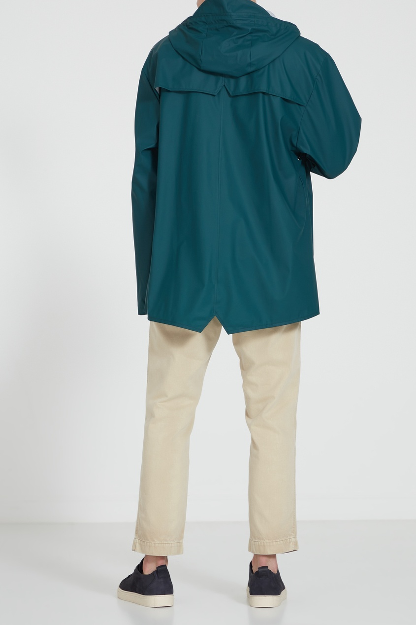 Фото 9 - Зеленый плащ зеленого цвета
