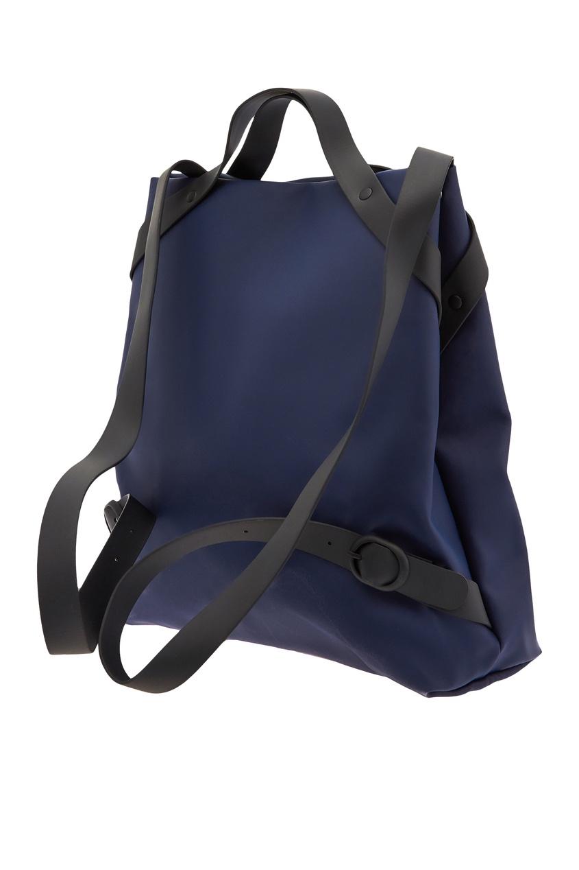 Фото 4 - Темно-синяя сумка-трансформер синего цвета