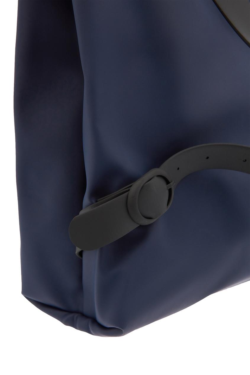 Фото 2 - Темно-синяя сумка-трансформер синего цвета