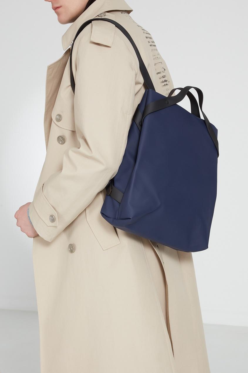 Фото 8 - Темно-синяя сумка-трансформер синего цвета
