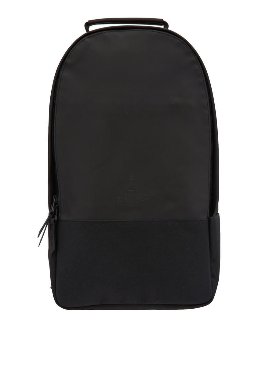 Фото - Черный рюкзак из непромокаемой ткани черного цвета