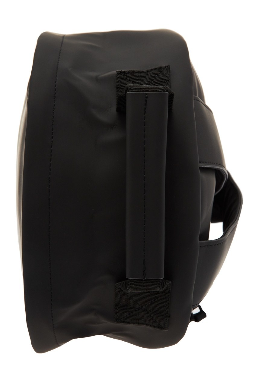 Фото 6 - Черный рюкзак из непромокаемой ткани черного цвета