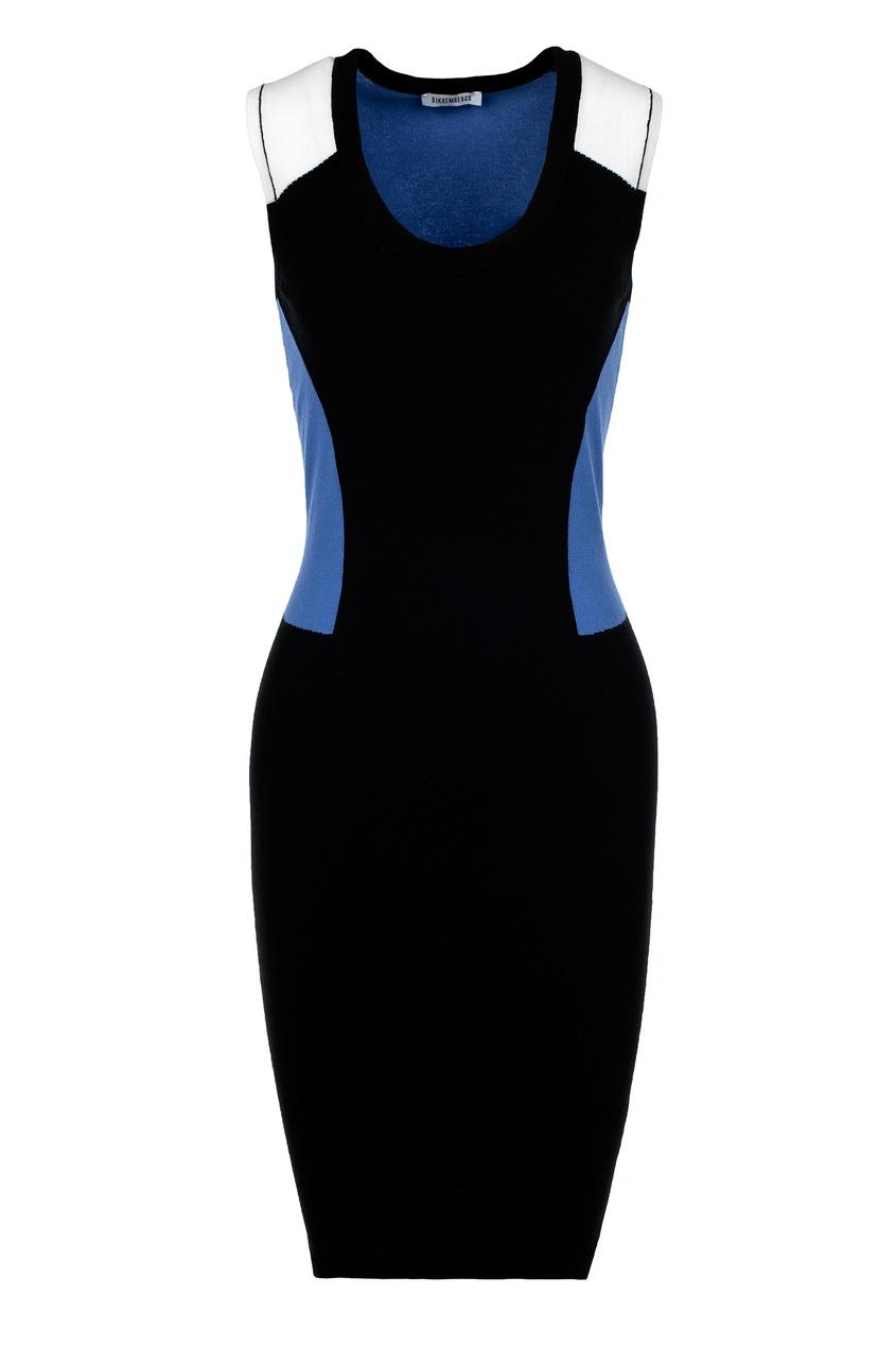 Контрастное приталенное платье Dirk Bikkembergs