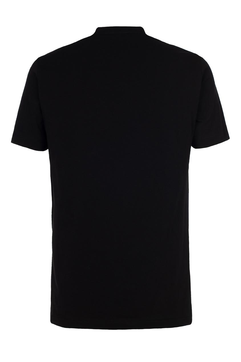 Черная футболка с логотипом, Черный, Черная футболка с логотипом