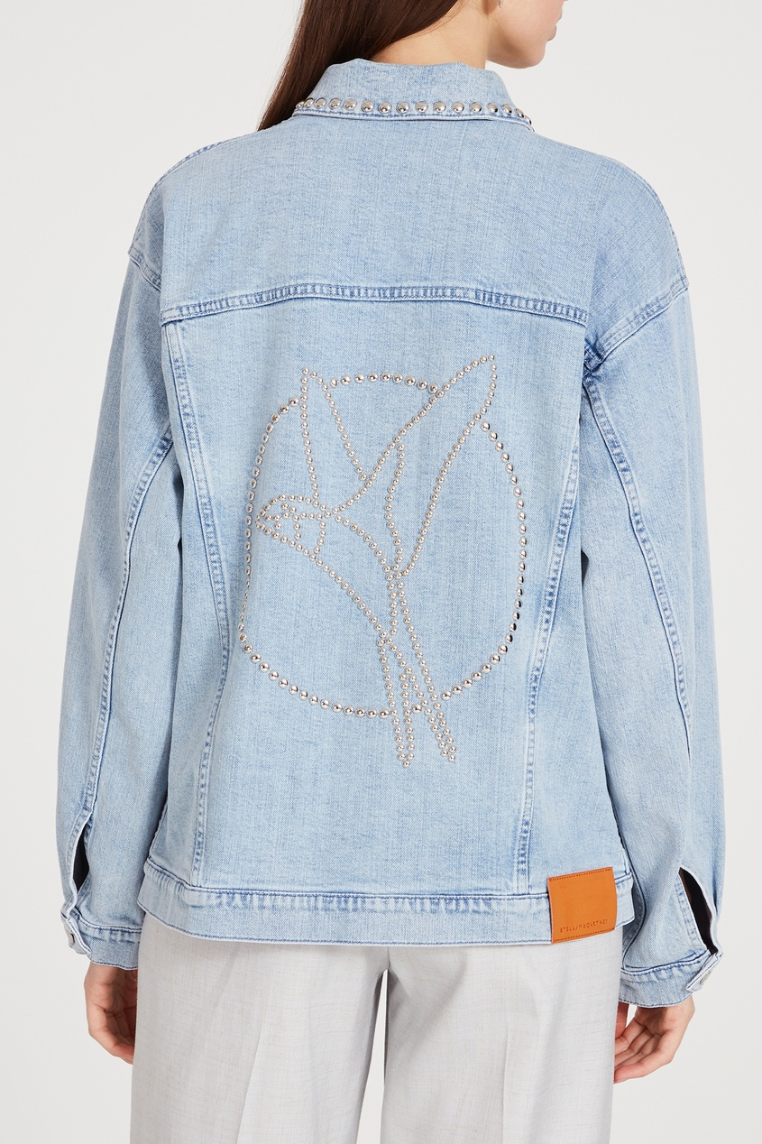 женская куртка stella mccartney, голубая