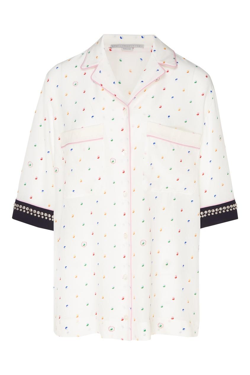 женская блузка stella mccartney, белая