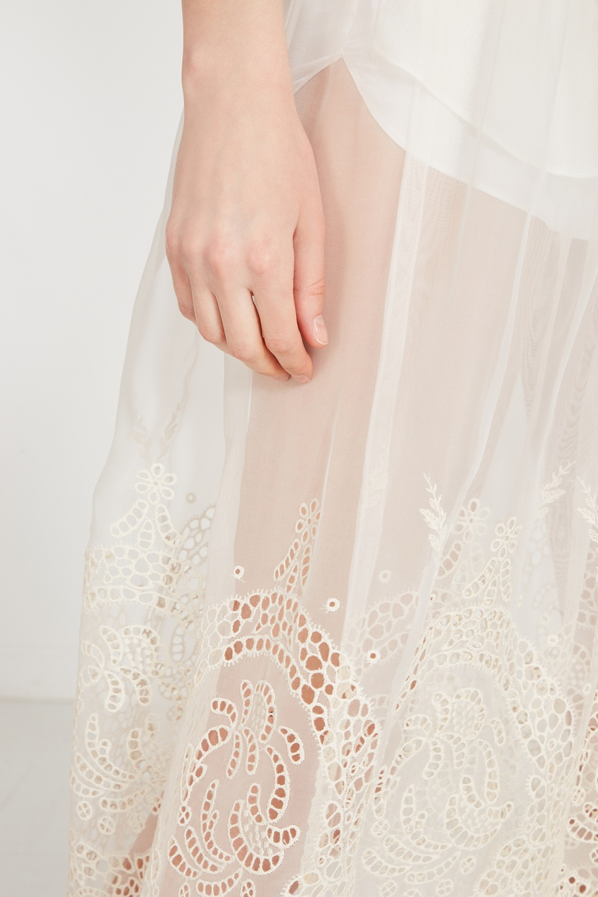 женская юбка stella mccartney, белая