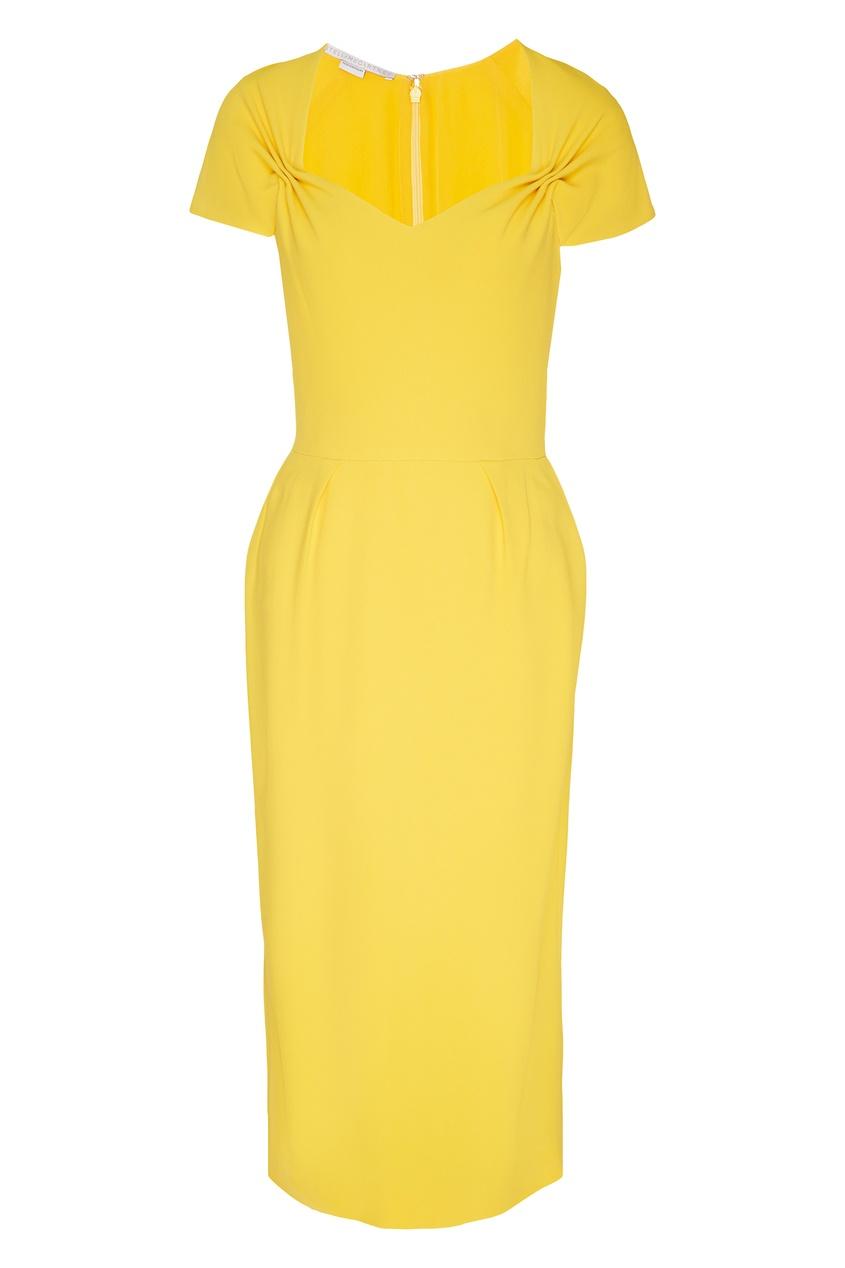 женское платье stella mccartney, желтое