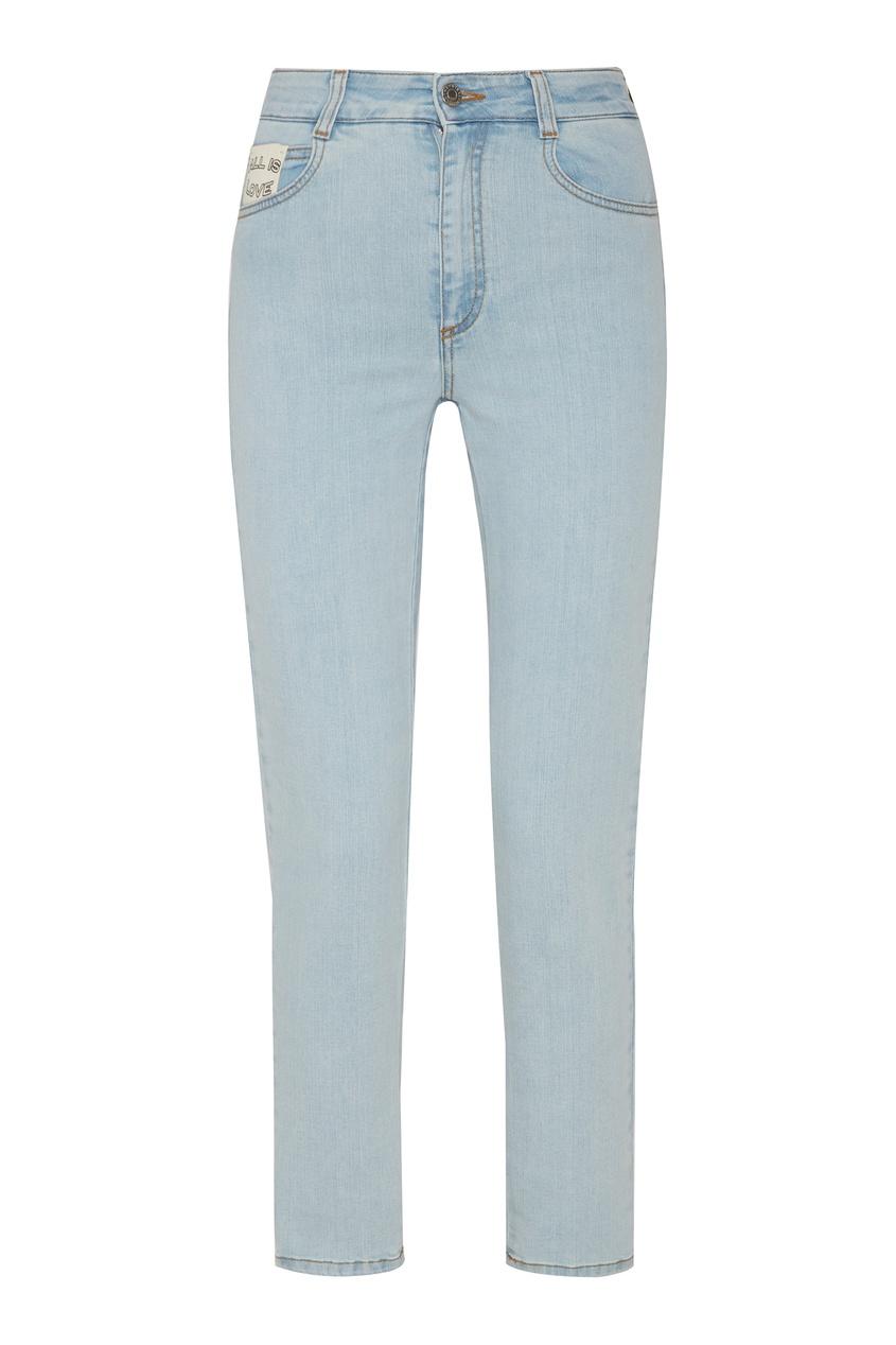 женские джинсы stella mccartney, голубые