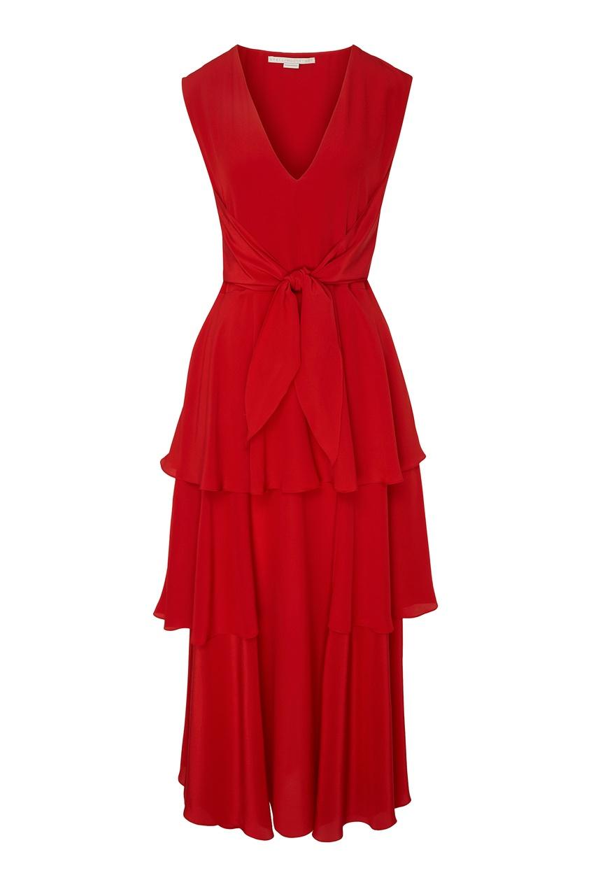 женское платье stella mccartney, красное