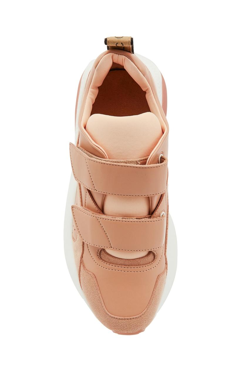 женские кроссовки stella mccartney, коричневые