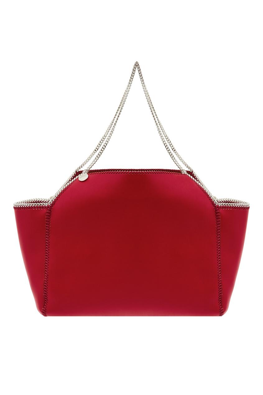 женская сумка stella mccartney, красная