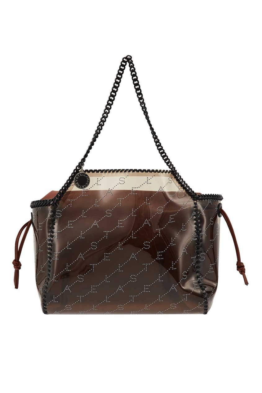 Коричневая сумка с логотипами Stella McCartney