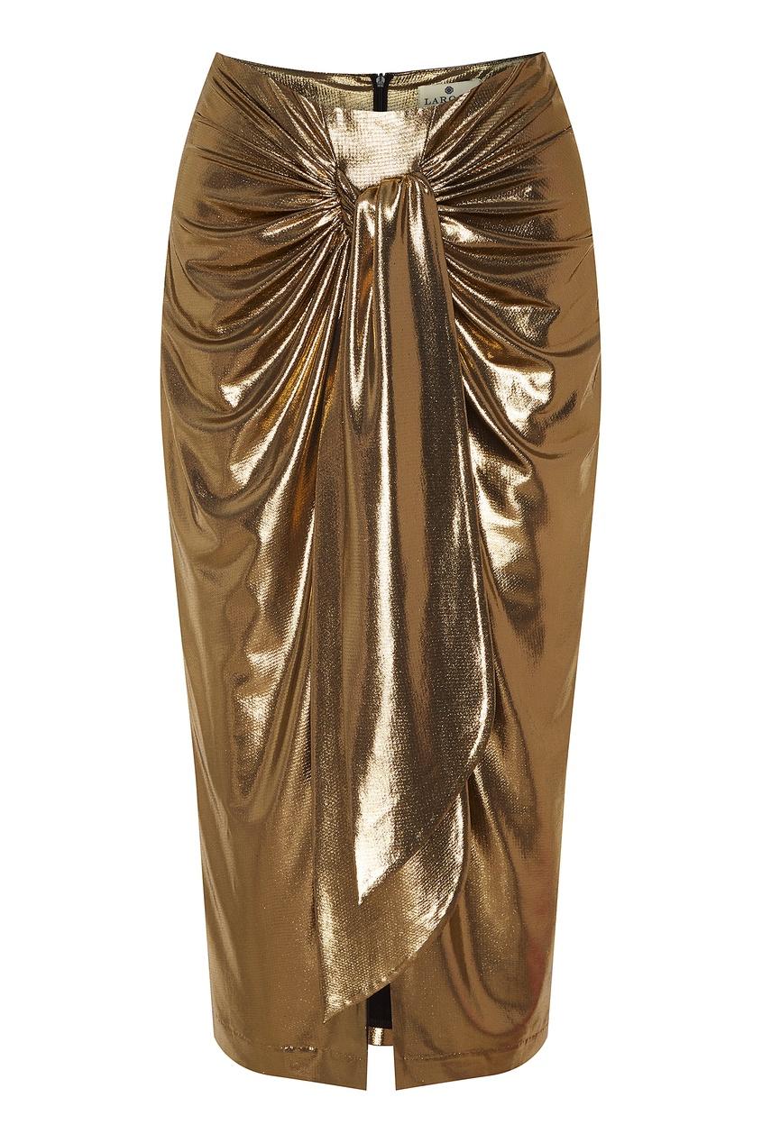 женская юбка laroom, золотая