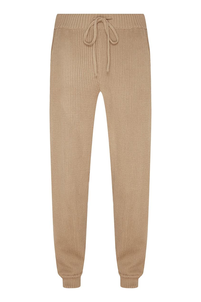 Фото - Бежевые трикотажные брюки бежевого цвета