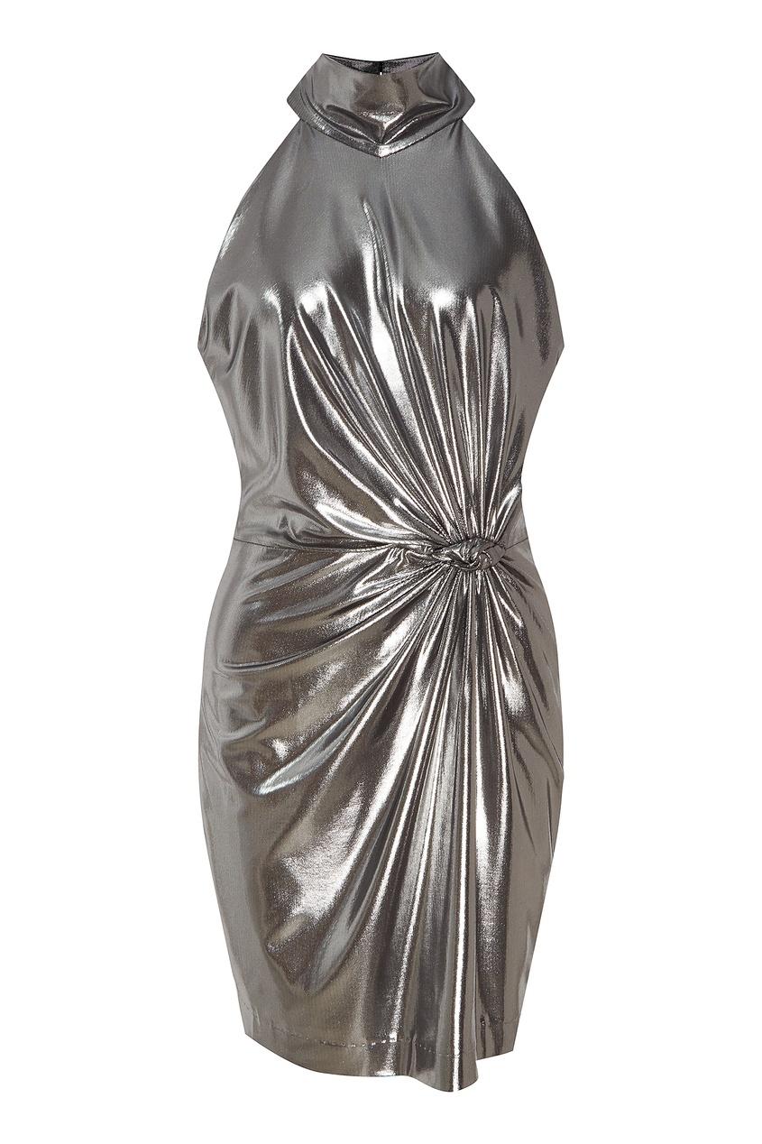 женское платье laroom, серебряное