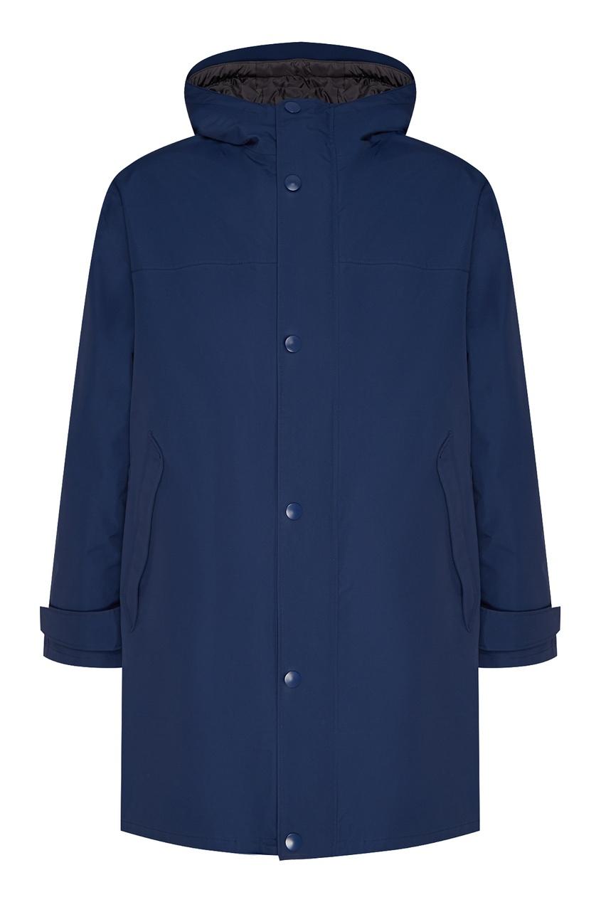 Купить Синий плащ с капюшоном от Prada синего цвета