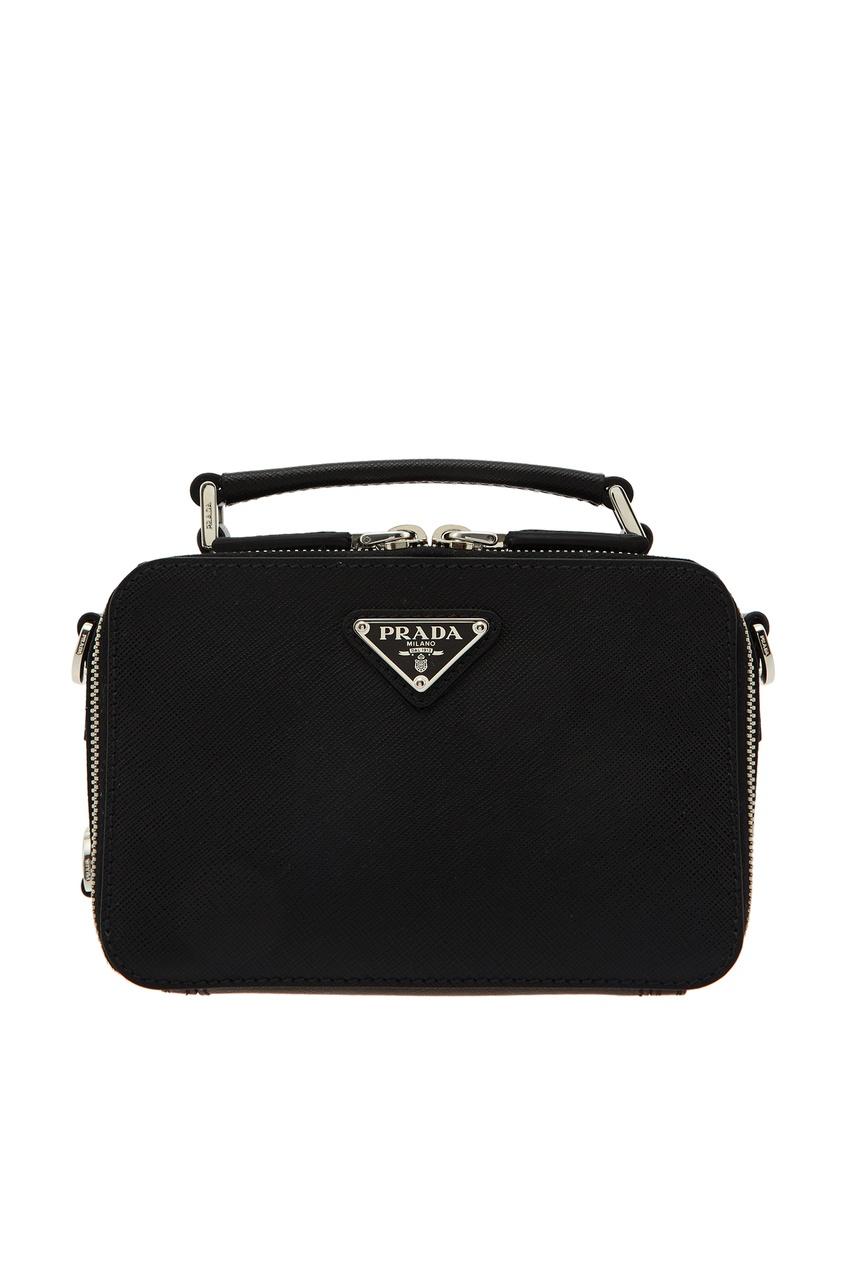 мужская сумка через плечо prada, черная