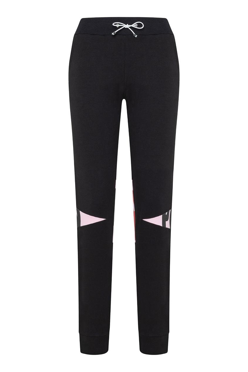 Черные брюки с контрастными вставками Philipp Plein