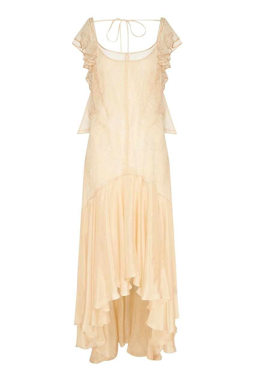 Кружевное платье-макси с отделкой Esve
