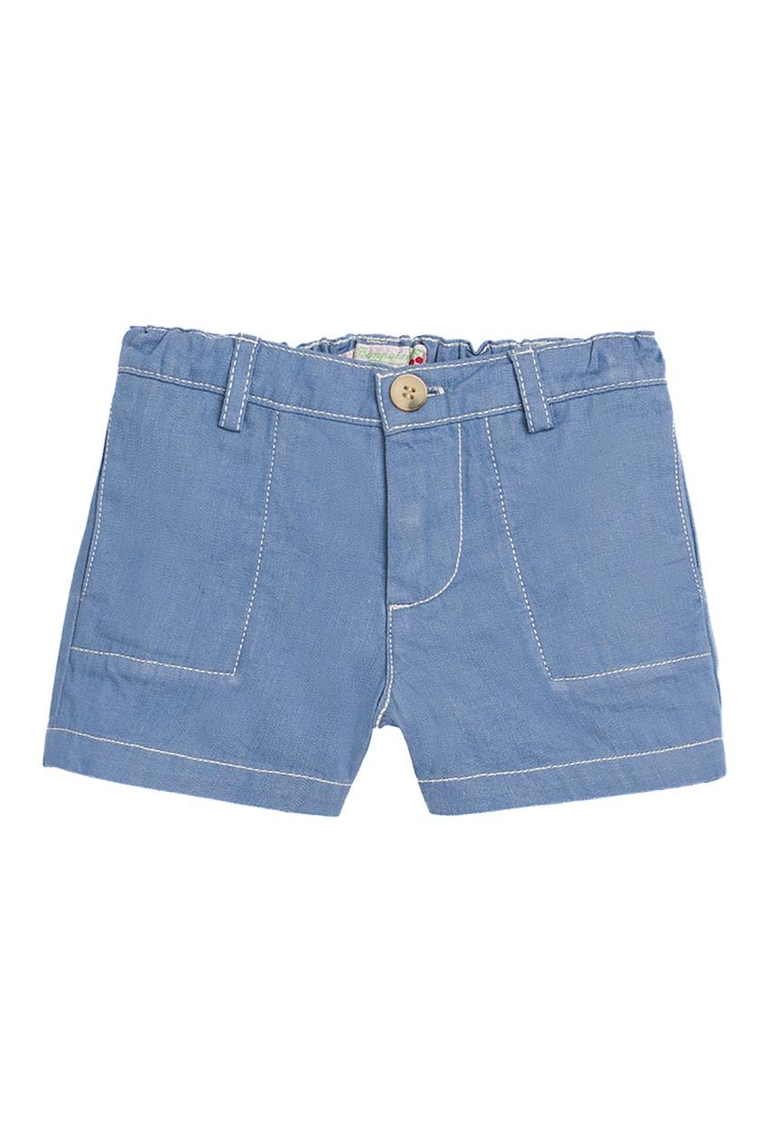 Купить Синие шорты с контрастной строчкой синего цвета