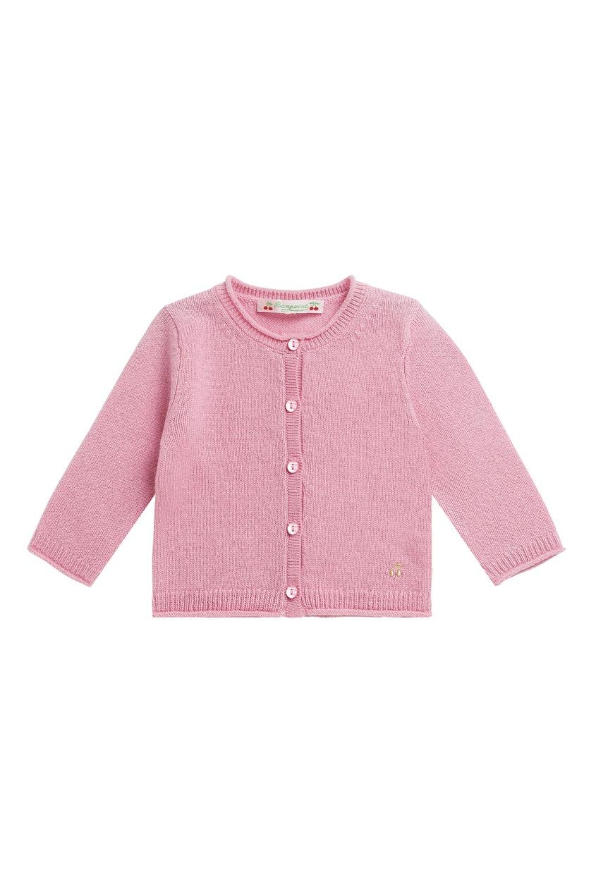 Розовый кардиган на пуговицах от Bonpoint