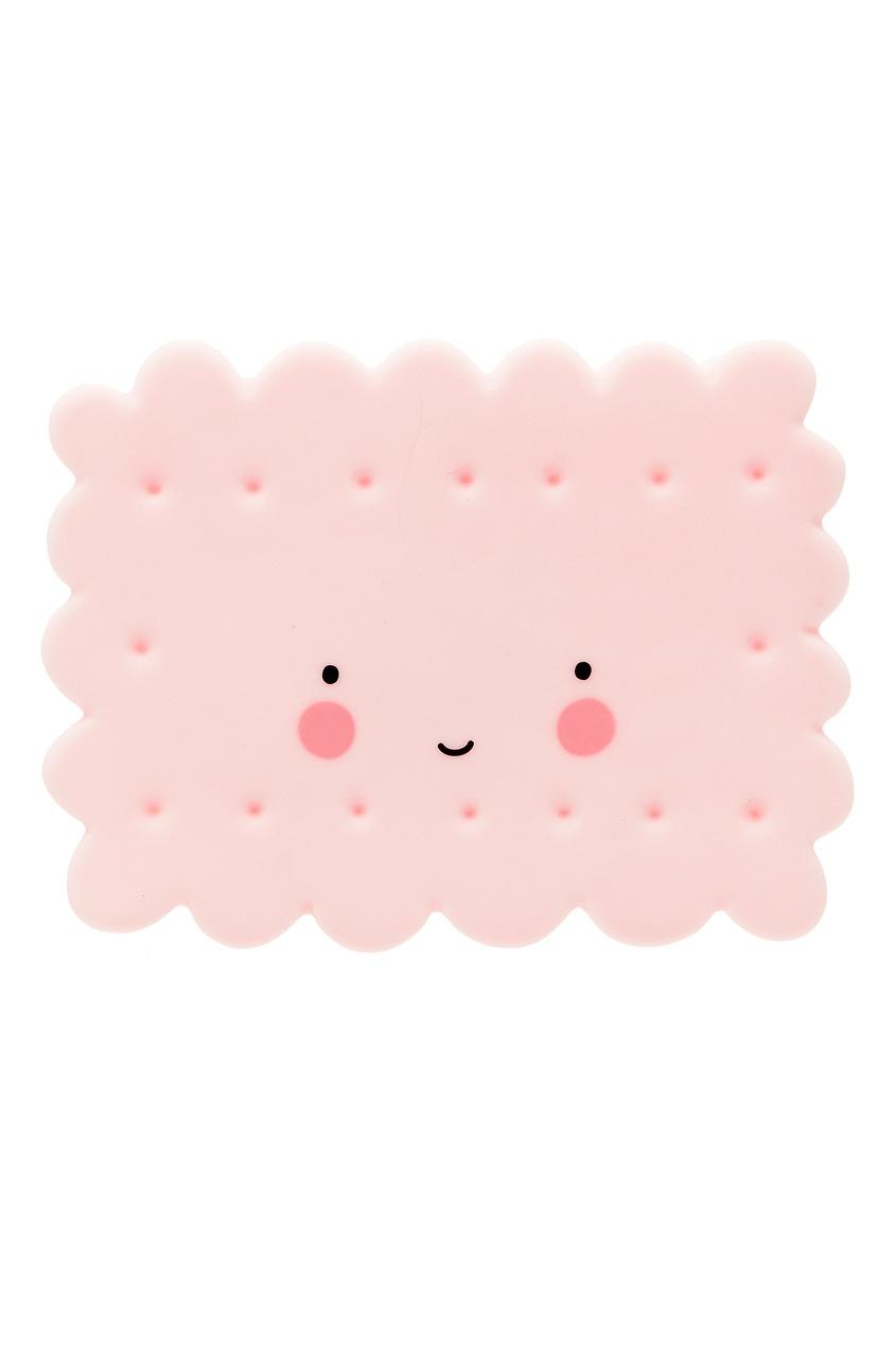 Розовый светильник в виде печенья