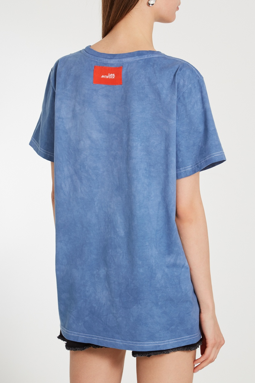 Фото 5 - Синяя футболка Gus Gus от Daniil Antsiferov синего цвета
