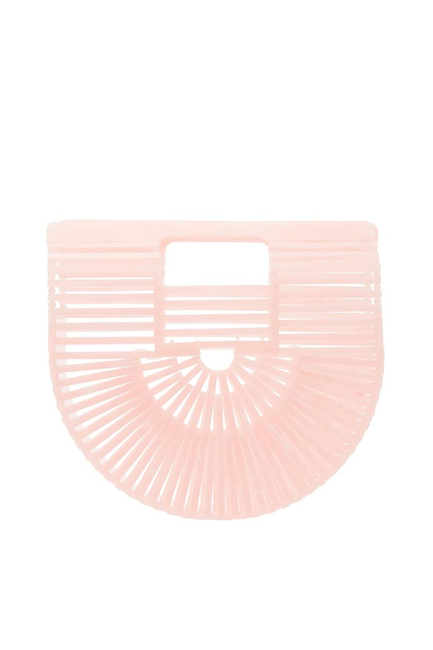 Бело-розовая мини-сумка Ark Cult Gaia