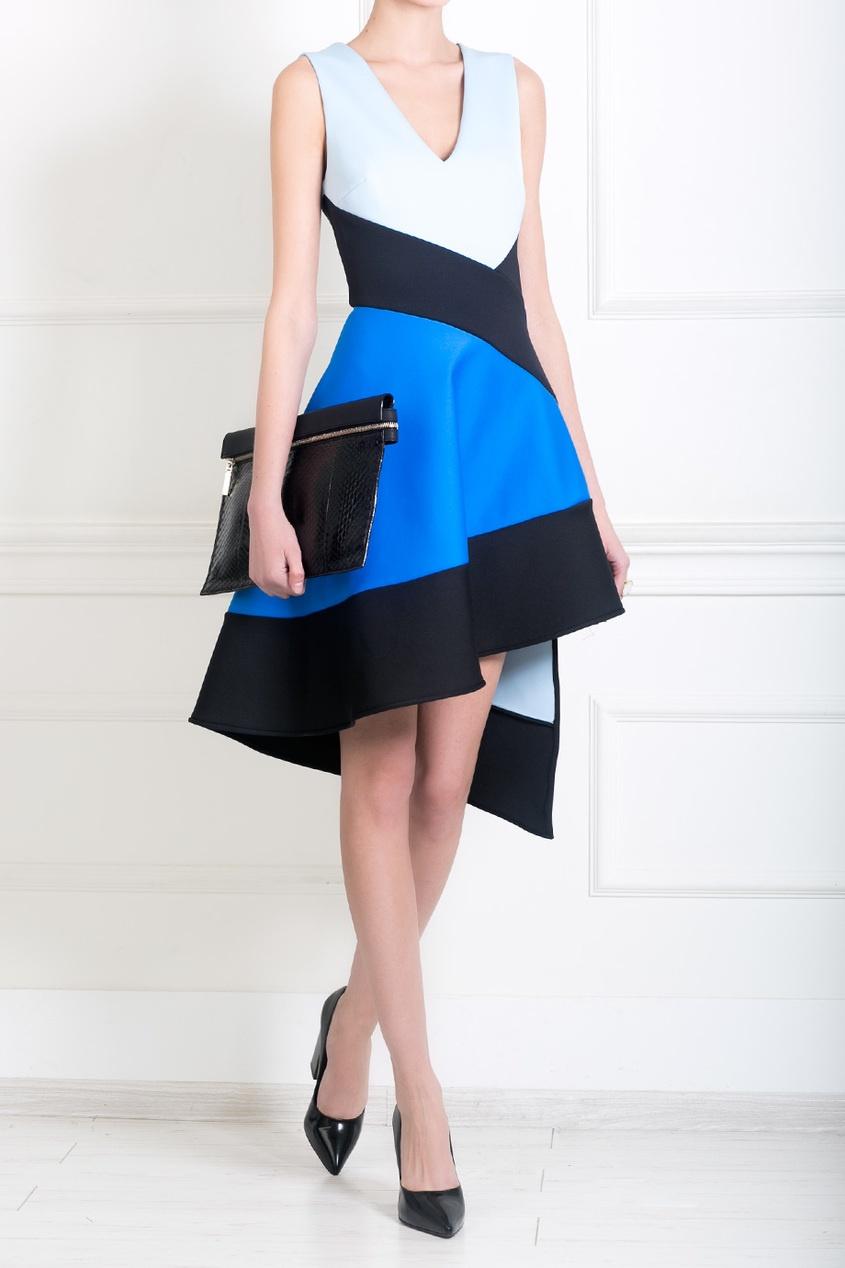 David Koma Платье с асимметричной юбкой