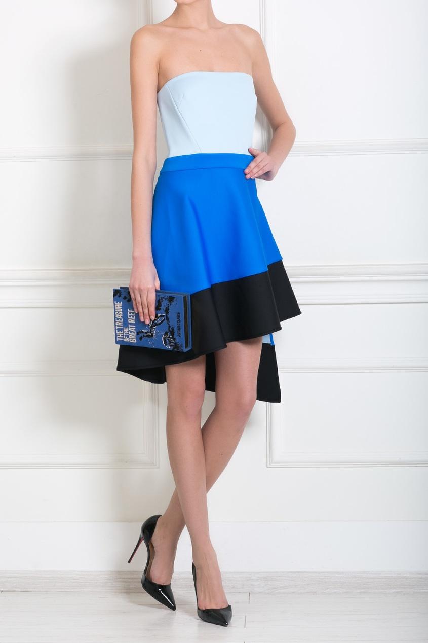 David Koma Платье-бюстье с асимметричной юбкой