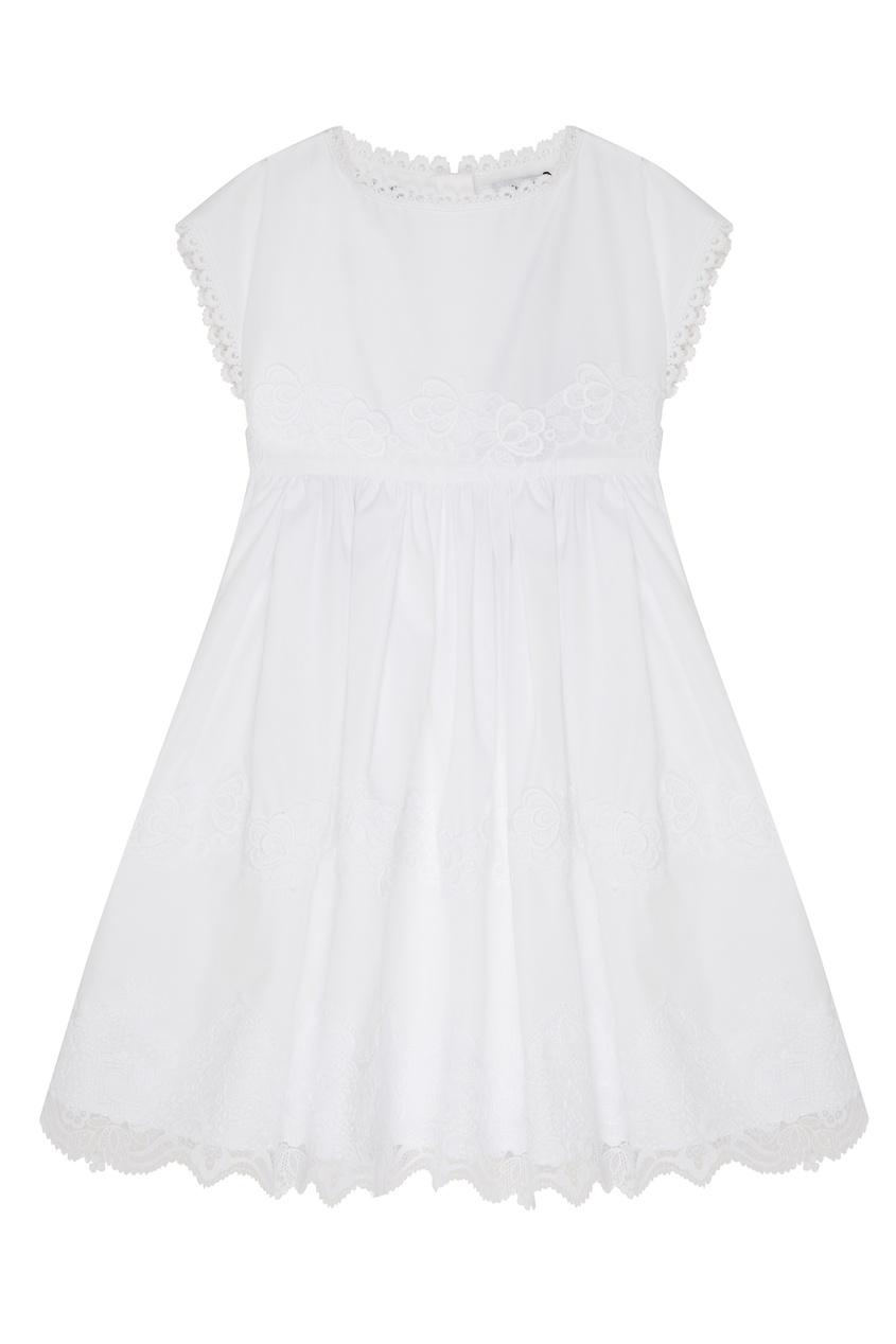 Купить Белое хлопковое платье белого цвета