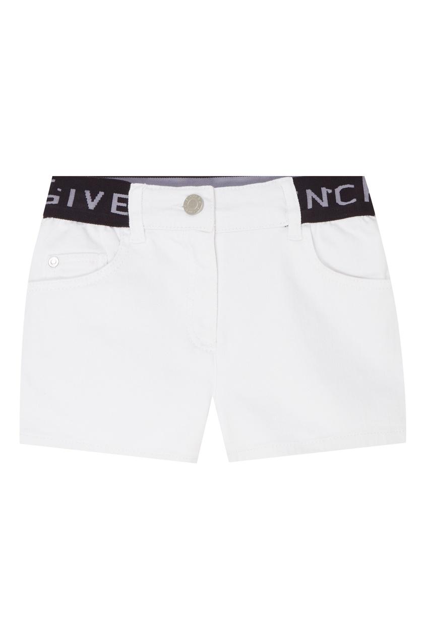 Купить Белые джинсовые шорты белого цвета